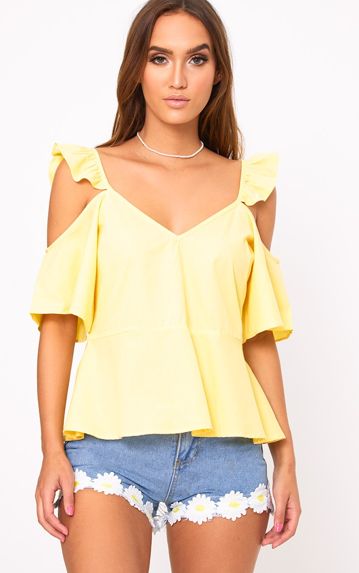 Lemon Frill Sleeveless Shirt 1