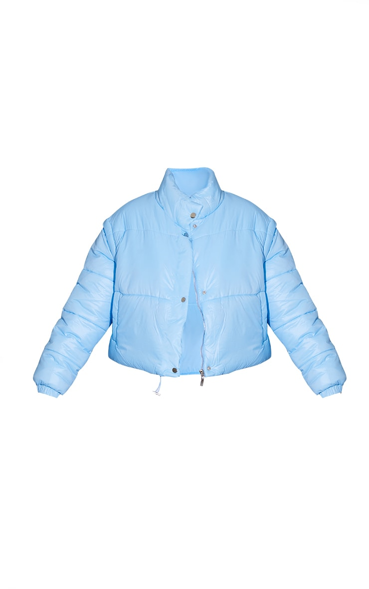 Light Blue Detachable Arm Gilet Puffer Jacket 5