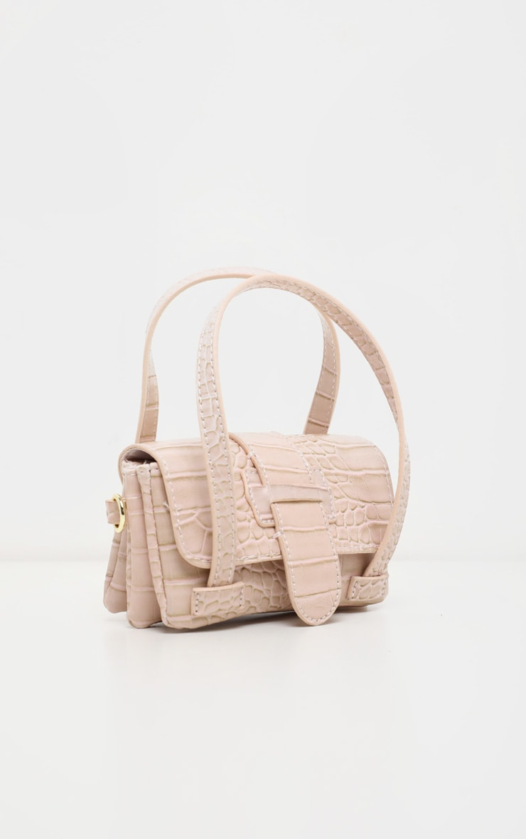 Cream Croc Extra Mini Bag 2