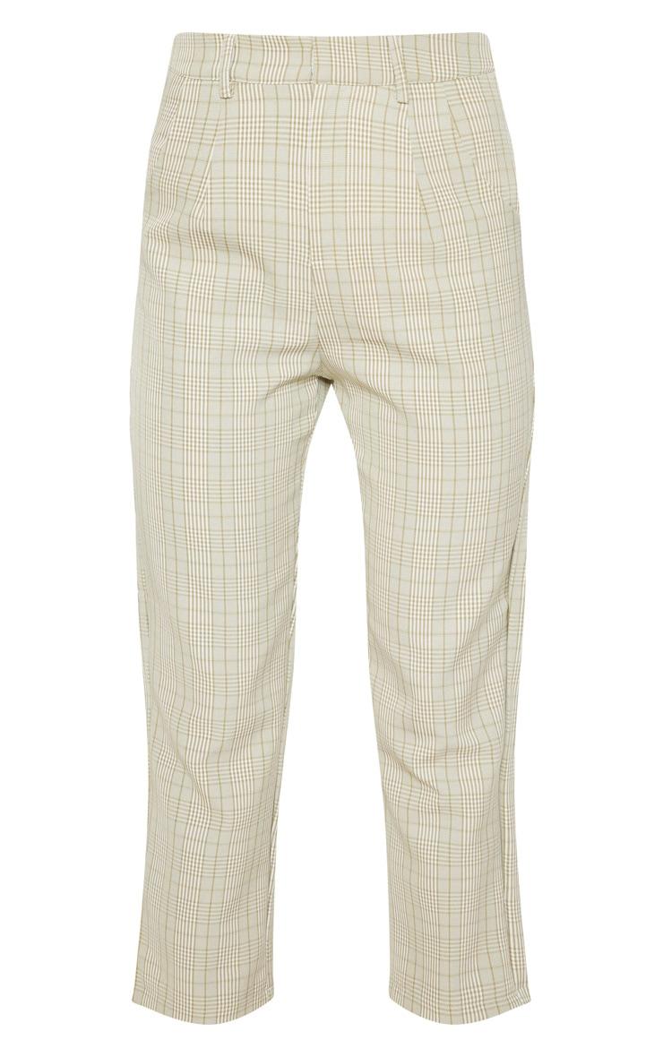 Sage Green Check Straight Leg Trouser 3