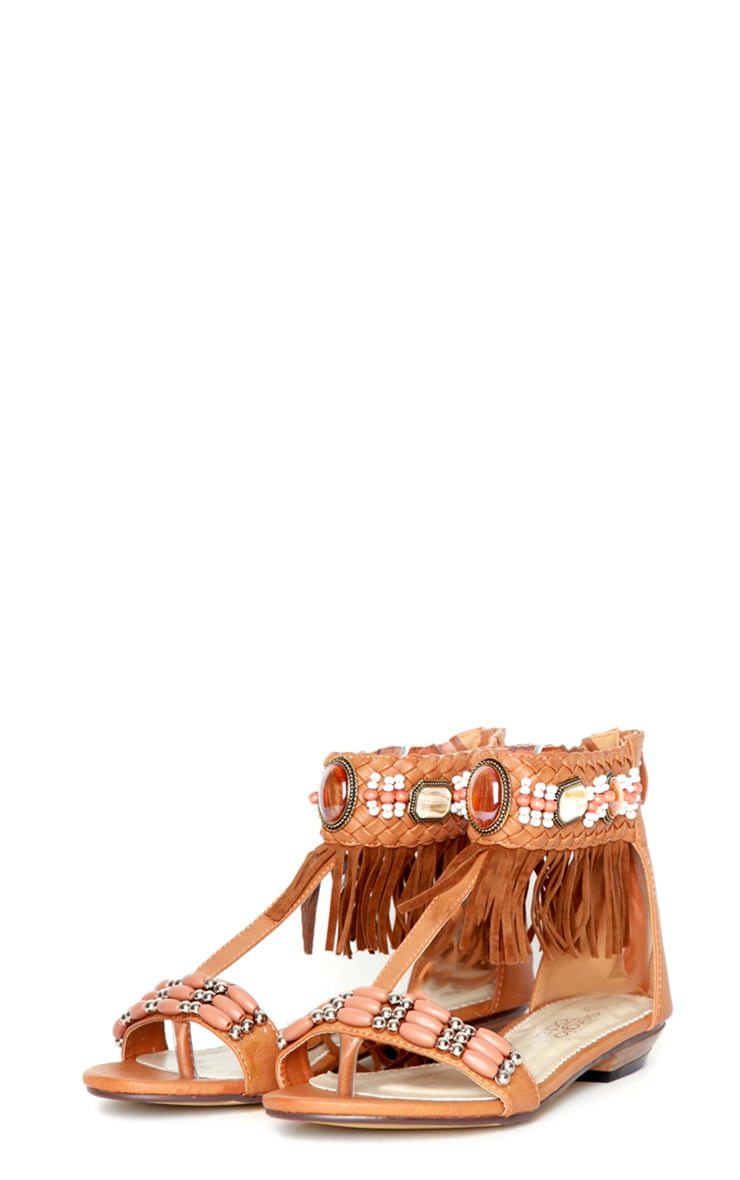 Shilo Tan Tassel Sandals 1