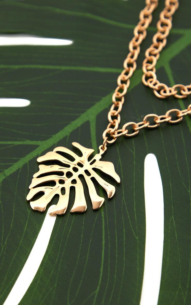 Gold Leaf Pendant Necklace 5