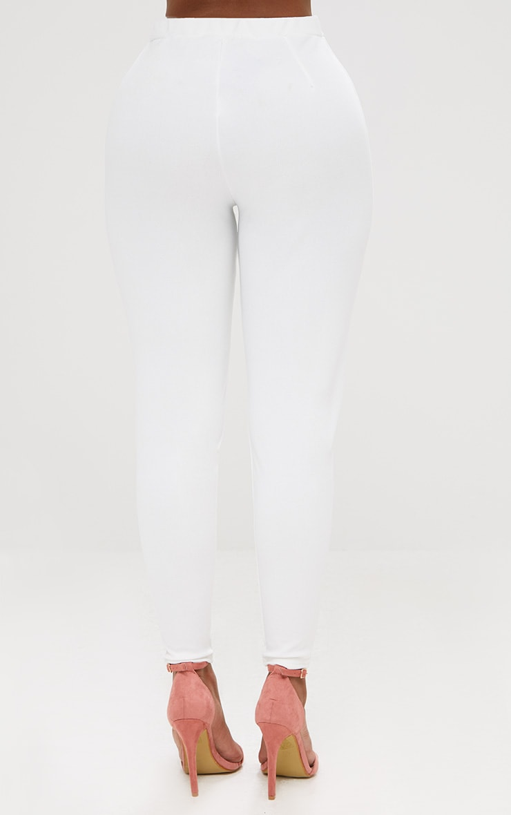 Shape White Fitted Trouser 4