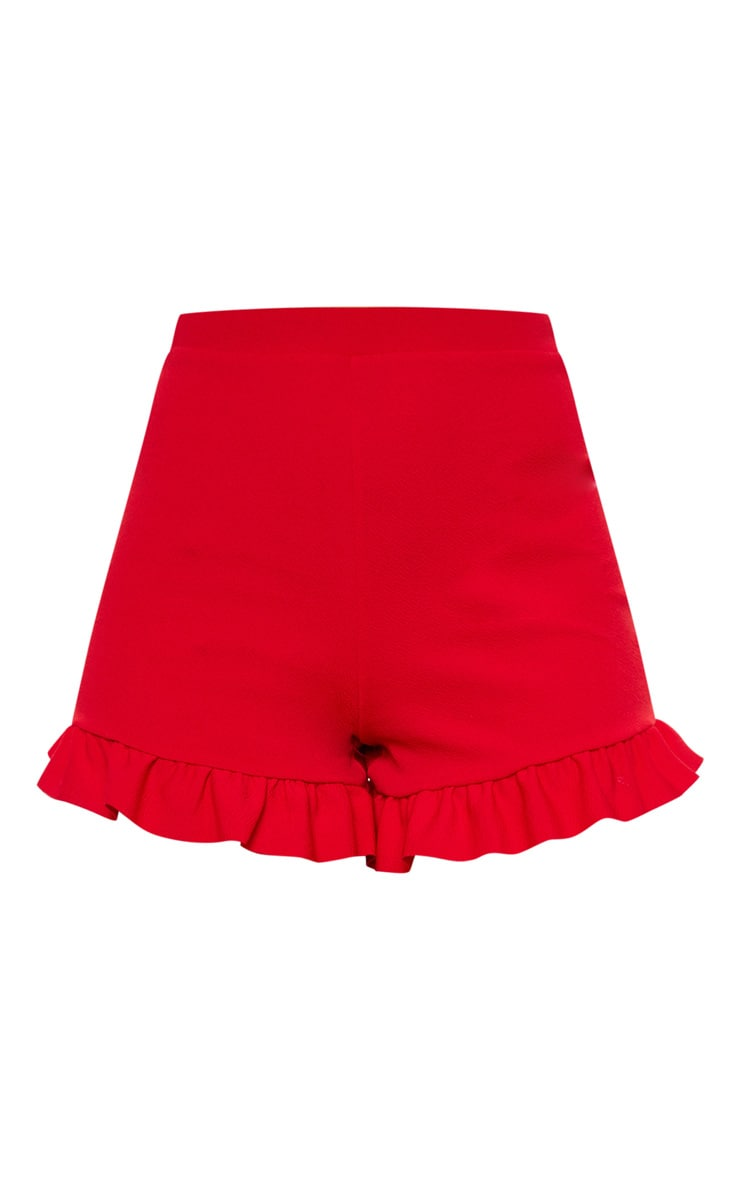 Short rouge à volants  3