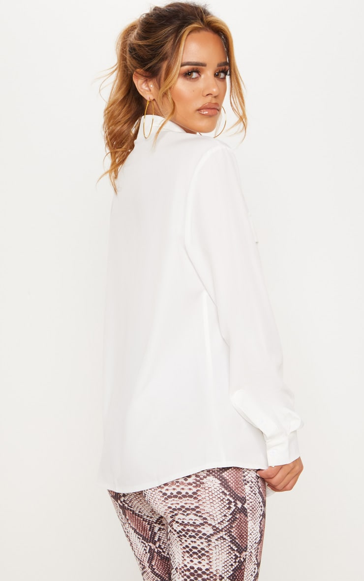 Petite White Pocket Detail Shirt 2