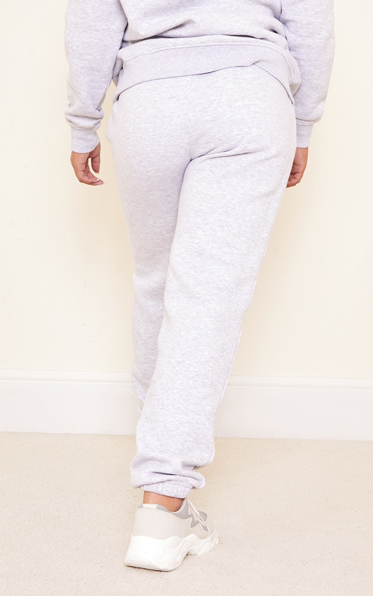 PRETTYLITTLETHING Maternity Grey Embroidered Joggers 3