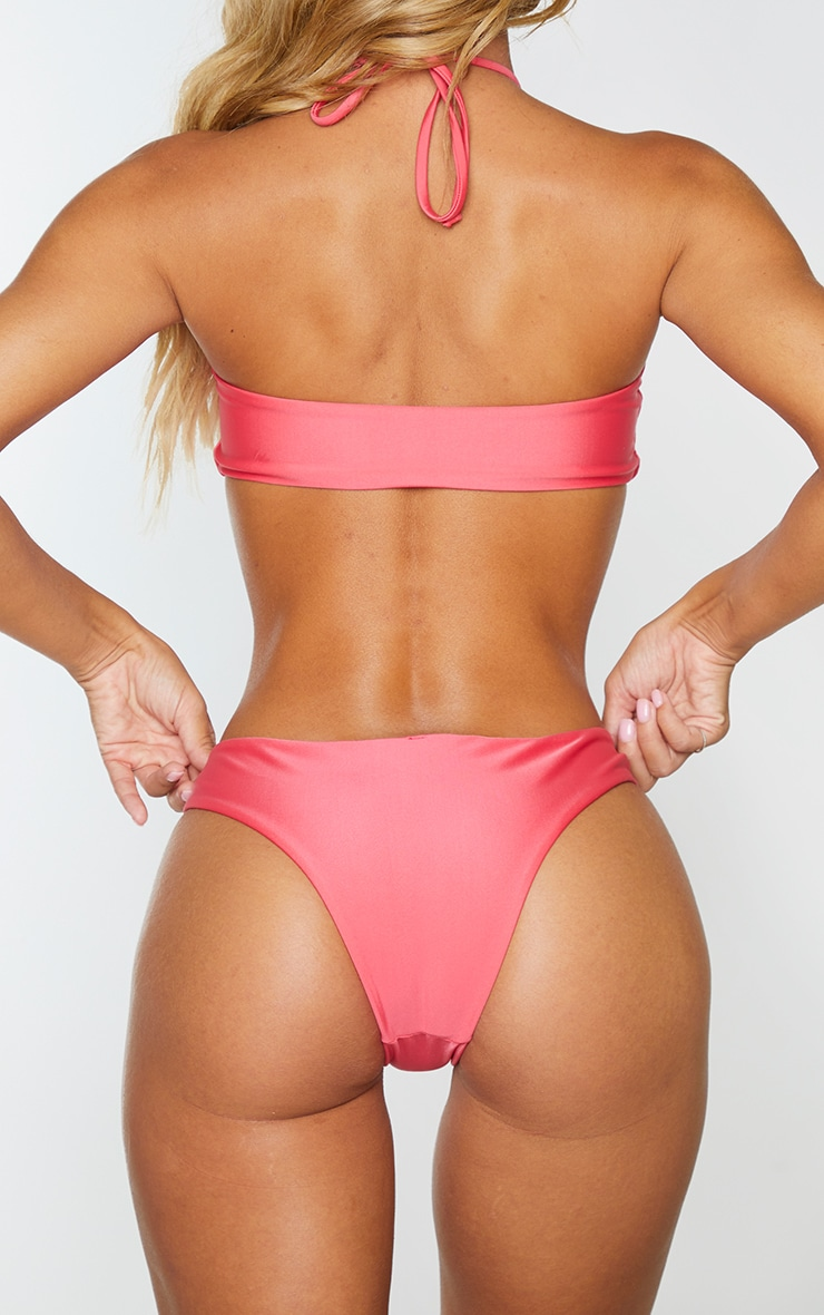 Pink Cut Out Ring Bikini Bottoms 3