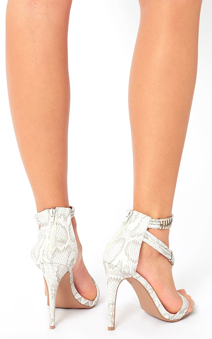 Riley Snake Cross Strap Heeled Sandals 3