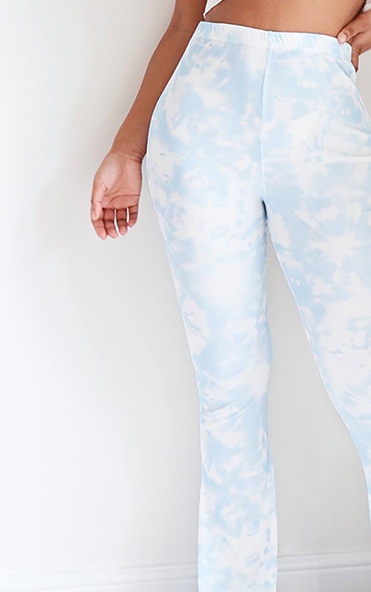Blue Flared Tie Dye Pants 4