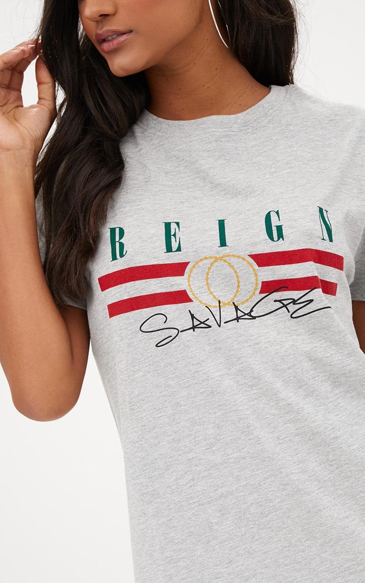 Grey Reign T Shirt Dress  4