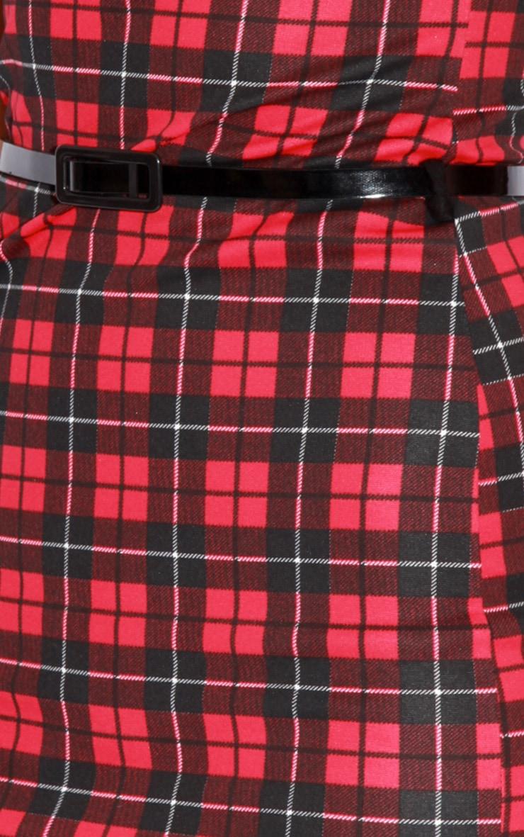 Ginny Tartan Belted Sweetheart Dress 3
