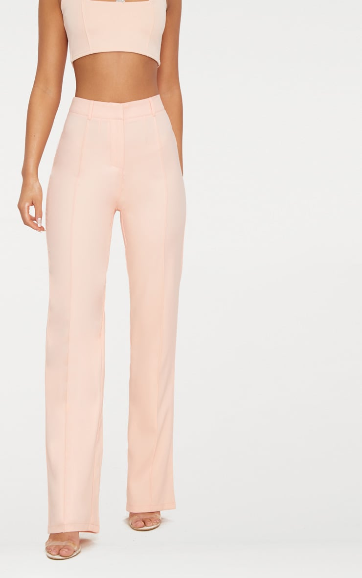 Blush High Waisted Straight Leg Trousers 2