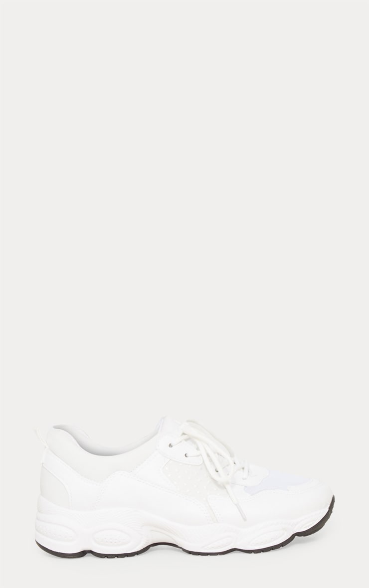 White Chunky Sneakers 4