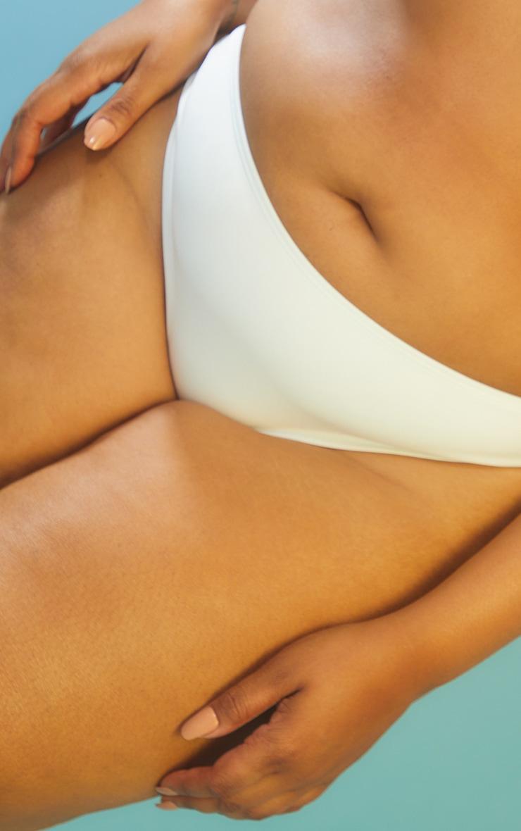 Recycled Plus White Mix & Match Cheeky Bum Bikini Bottoms 4
