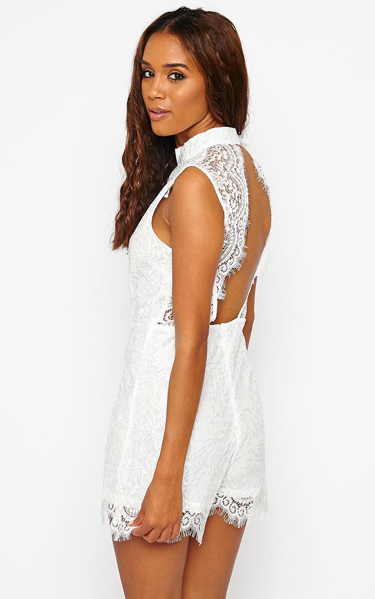 Xara White Lace Playsuit 1