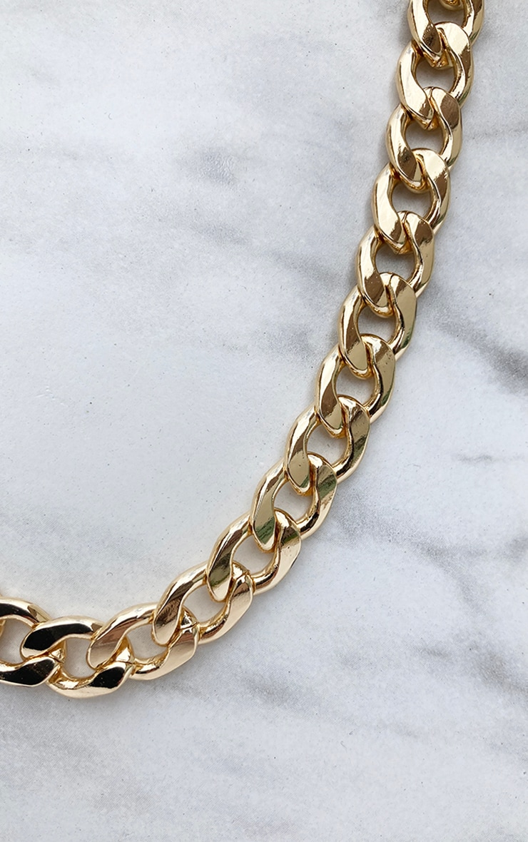 Gold Thick Chunky Chain Necklace 4