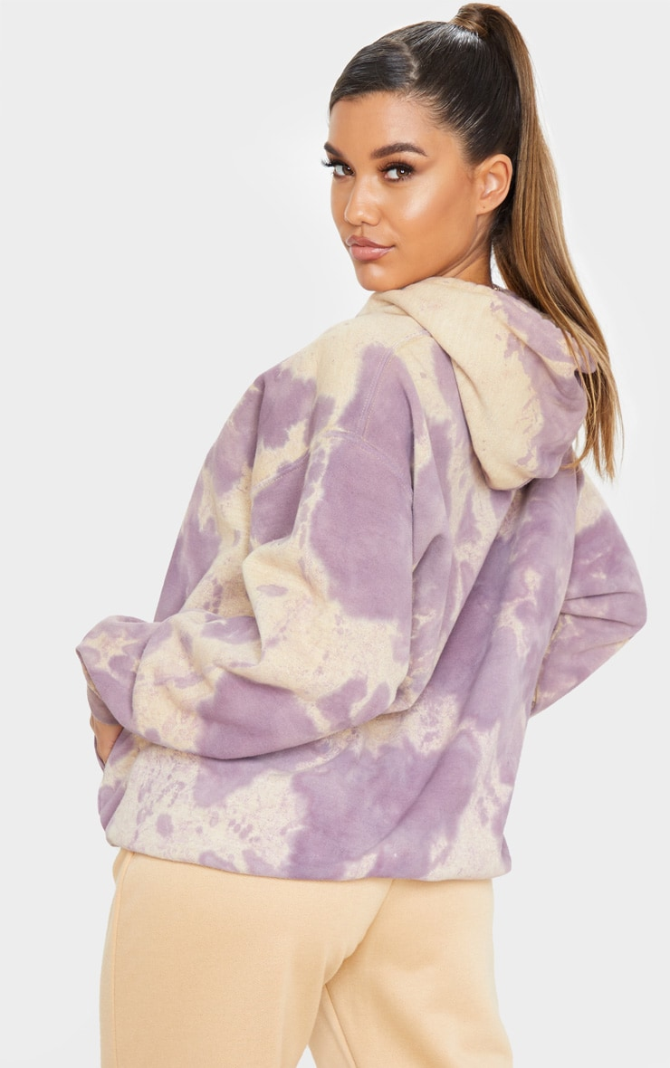 Washed Violet Acid Wash Oversized Hoodie 2