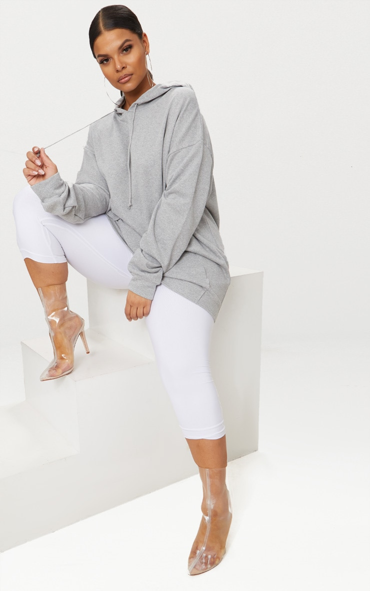 Plus - Hoodie oversized gris chiné 3