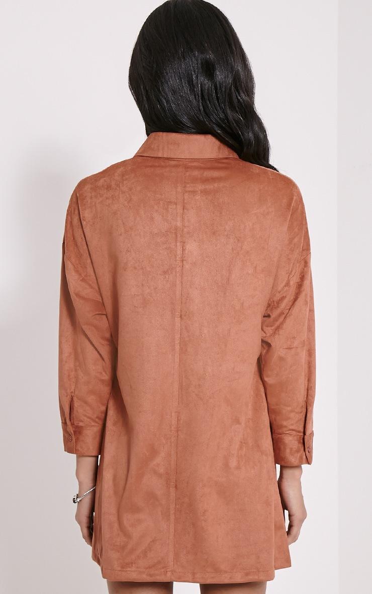 Primula Dark Rose Faux Suede Shirt Dress 2