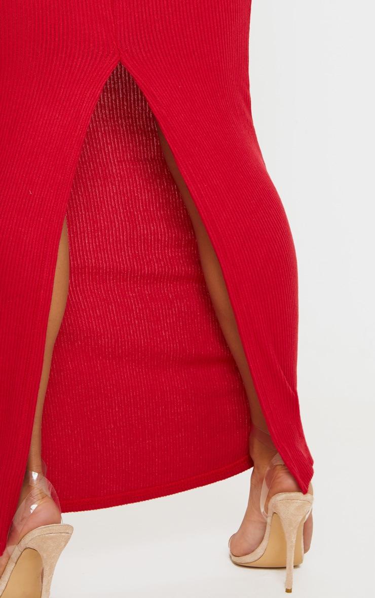 Scarlet Brushed Rib Midaxi Skirt 5