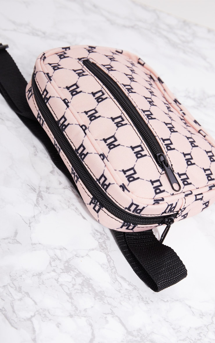 PRETTYLITTLETHING Pink Logo Bum Bag 5