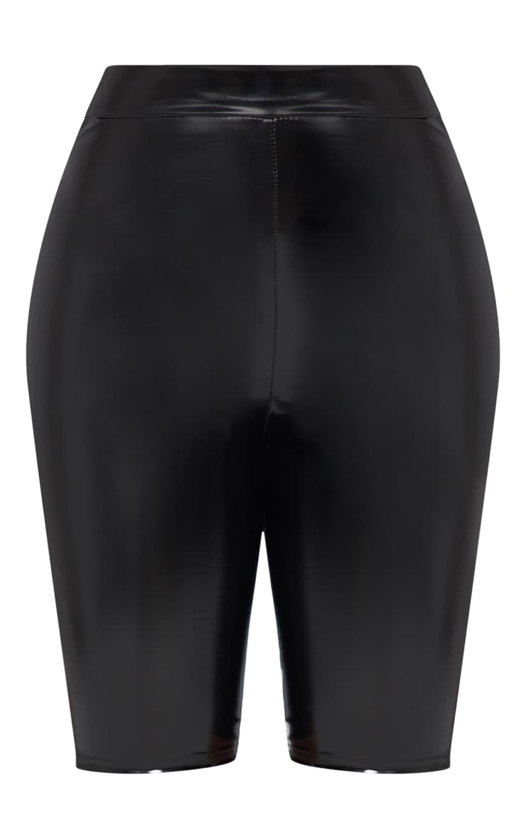 Shape- Short legging en imitation cuir noir 3