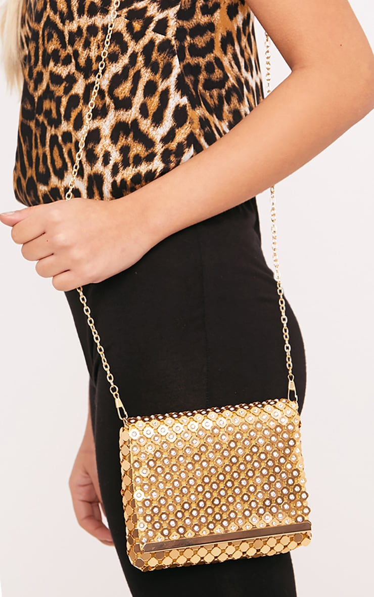 Jolee Gold Chainmail Clutch 1