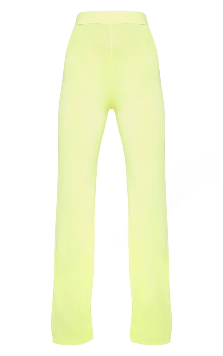 Lime Basic Wide Leg Trouser 3