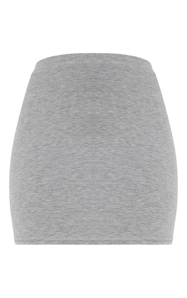 Grey Marl Ultimate Jersey Mini Skirt 3