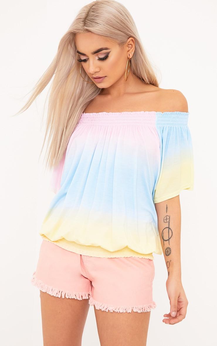 Tie Dye Bardot Top 1