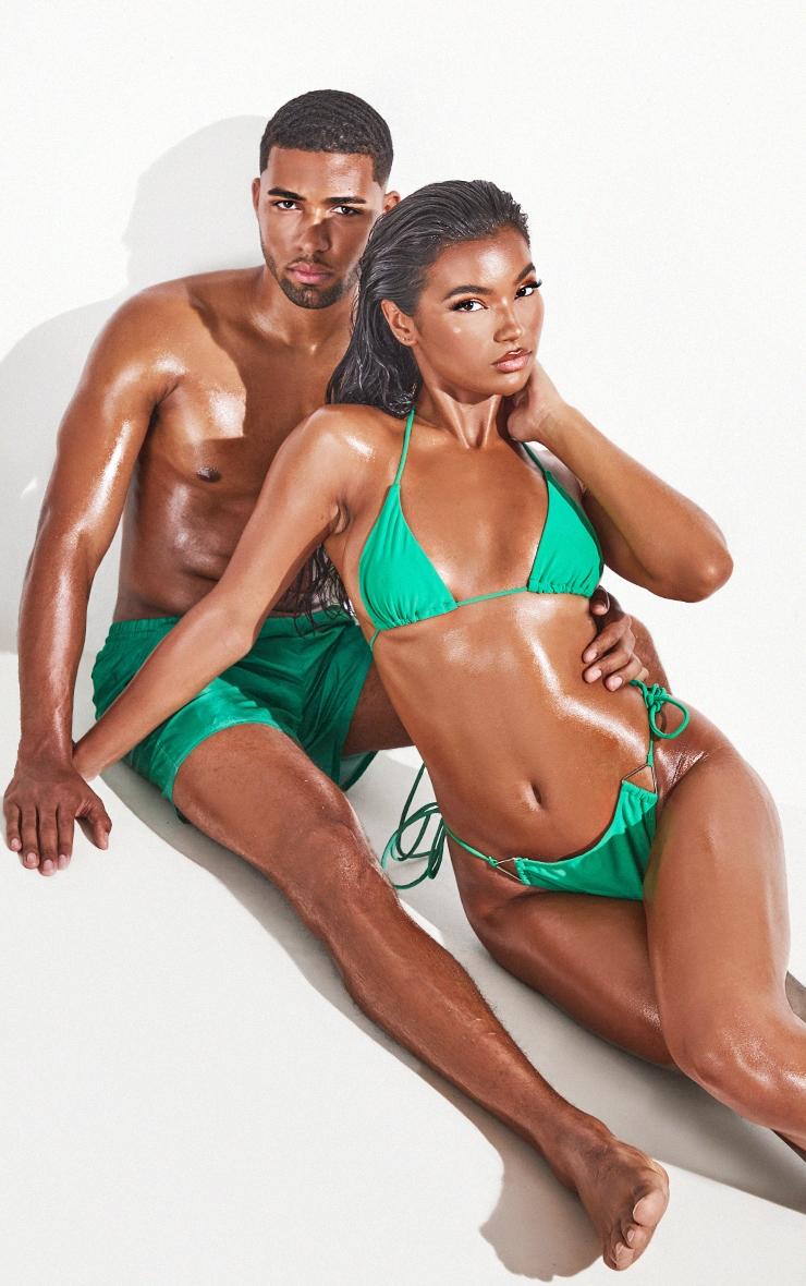 Green  Tie Side Bikini Bottoms 3