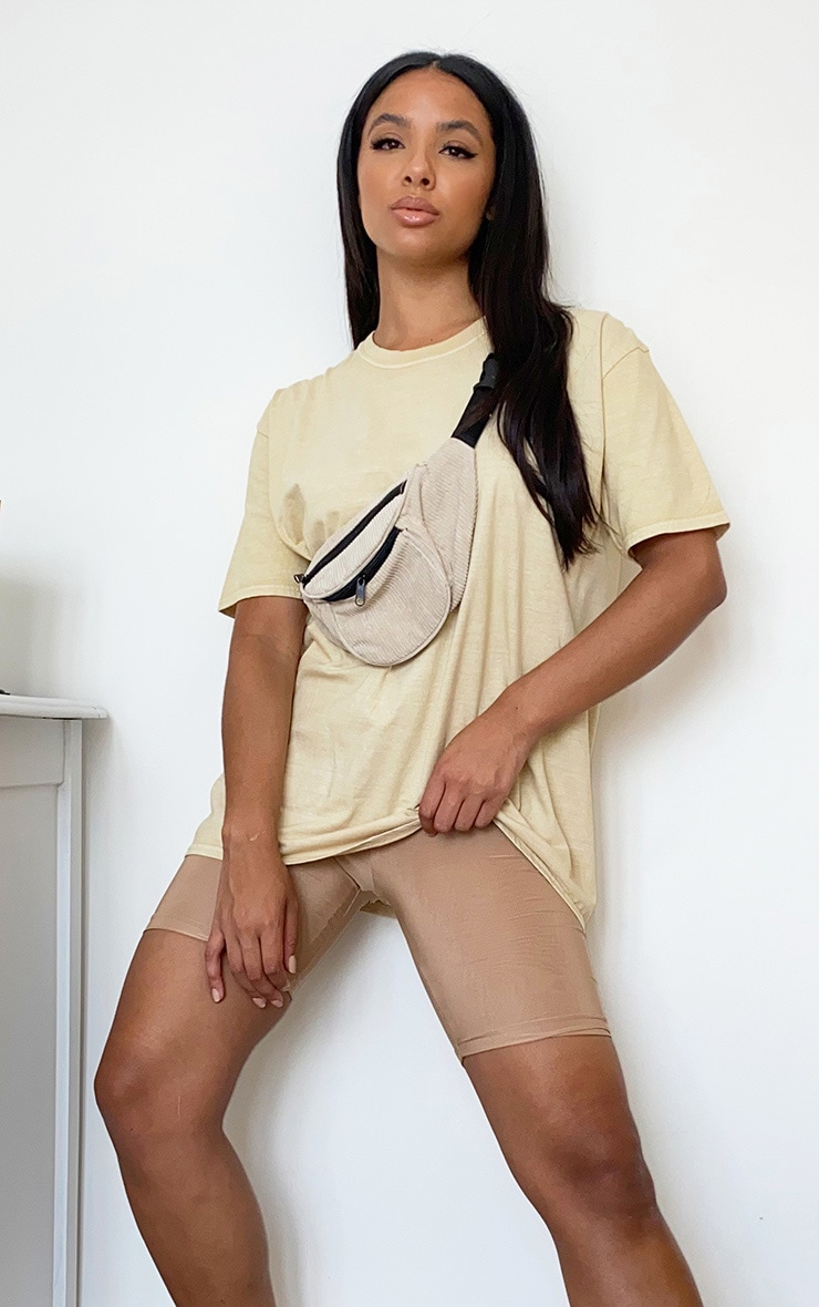 Beige Washed T Shirt 1