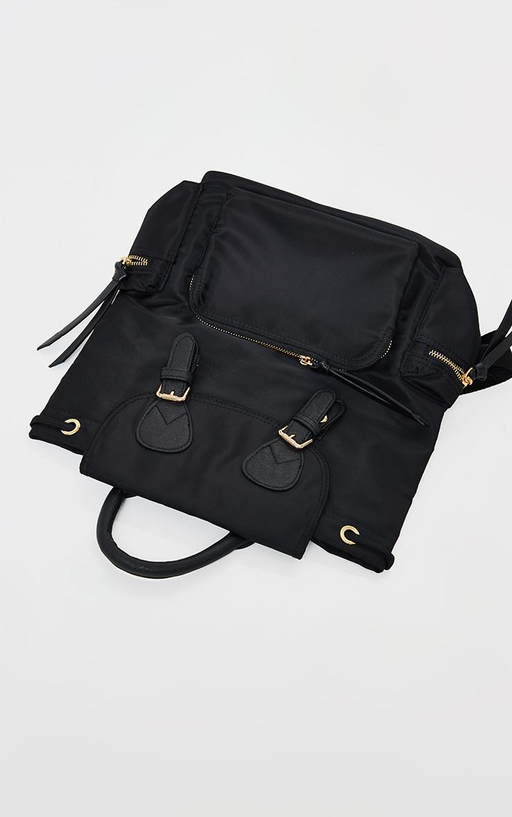 Black Multi Pocket Backpack 3