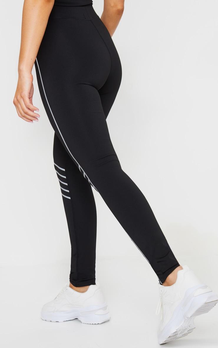 Black Line Detail Gym Leggings 3