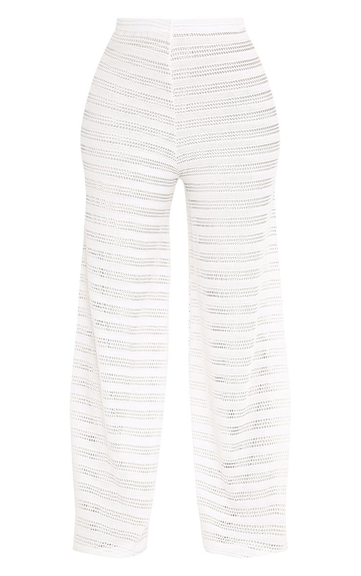 Shape Edyn Cream Lace Wide Leg Trousers 3