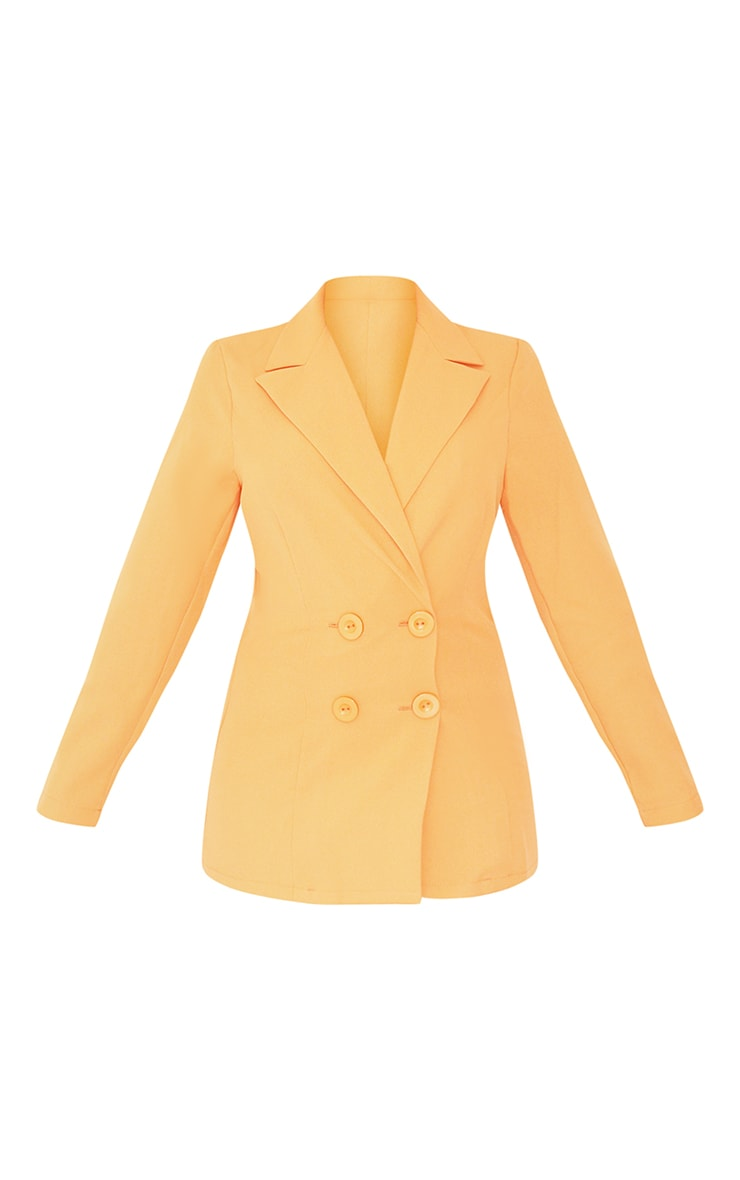 Petite Peach Button Front Oversized Blazer 5