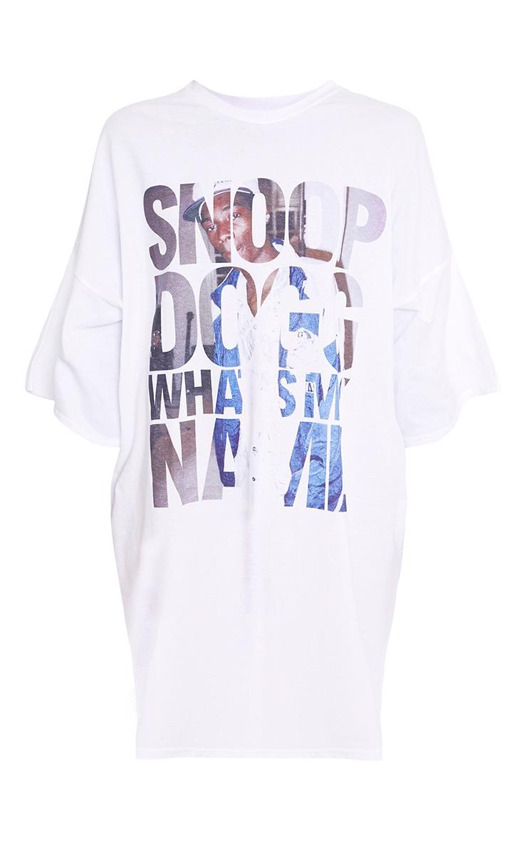 Snoop Dog Whats My Name T Shirt Dress White 3