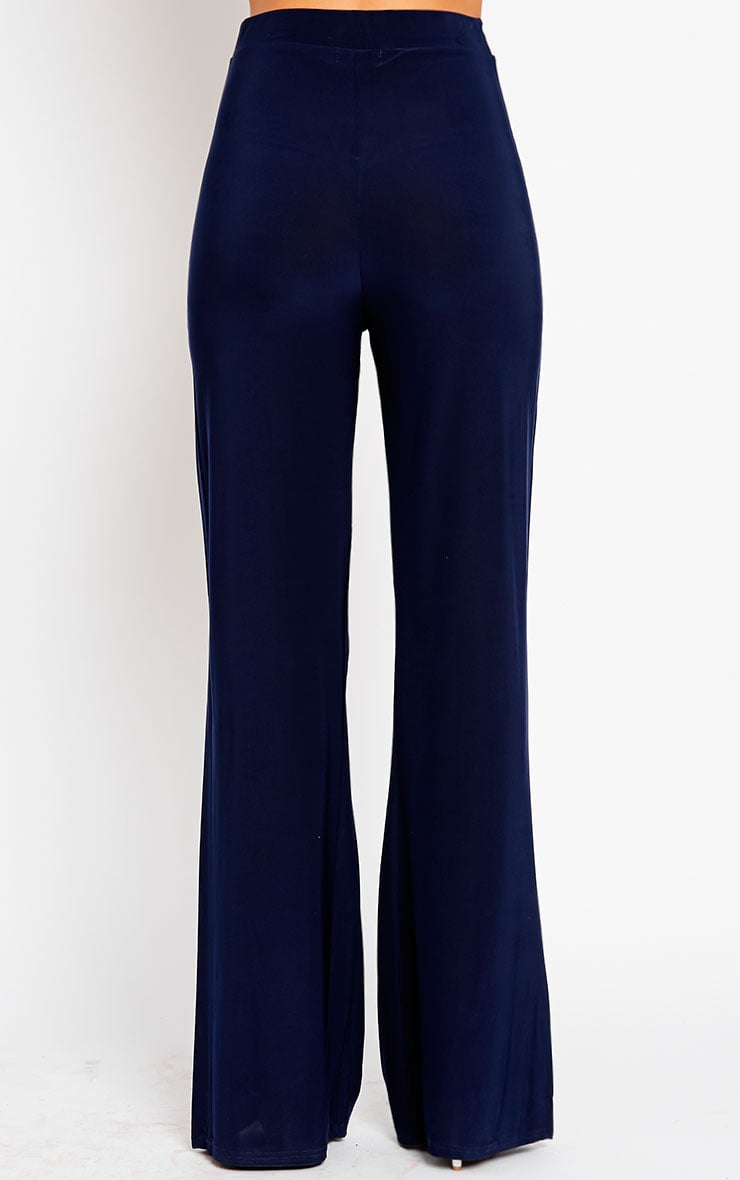 Remi Navy Soft Touch Wide Leg Trousers 4