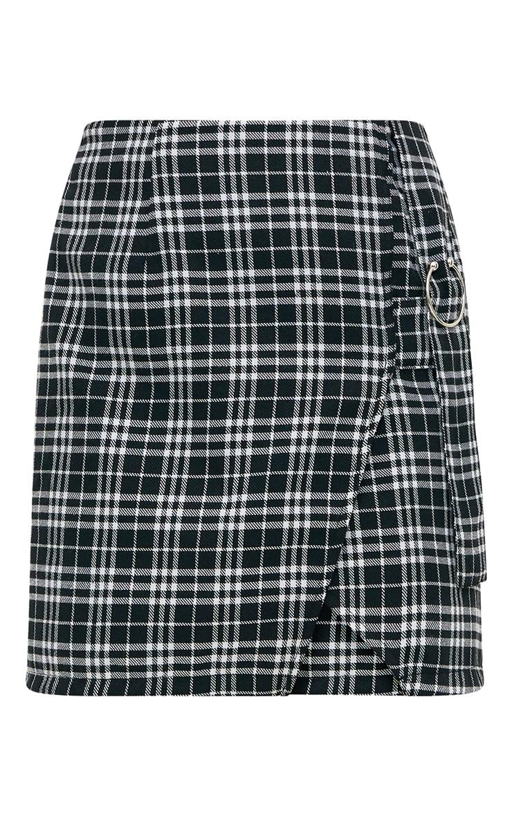 Black Check Ring Detail Mini Skirt 3
