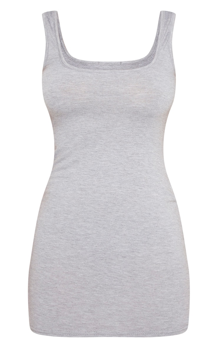 Petite Grey Jersey Mini Dress 5