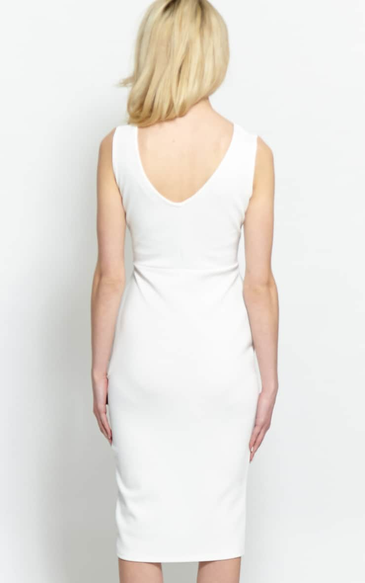 Glenda White Peplum Midi Dress 2