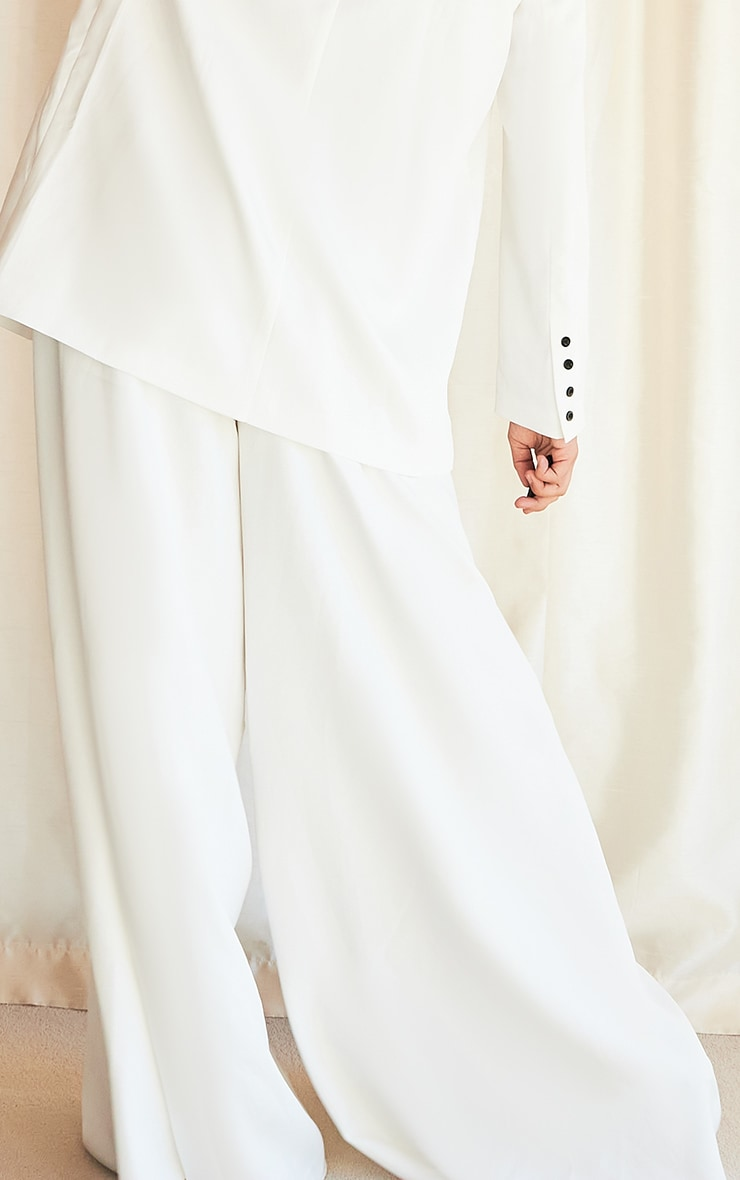 White Extreme Wide Leg Floaty Pants 3