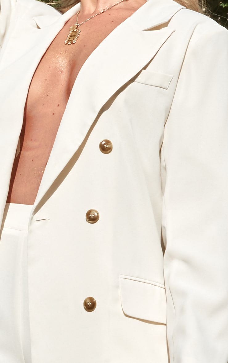 Cream Tailored Woven Blazer 5