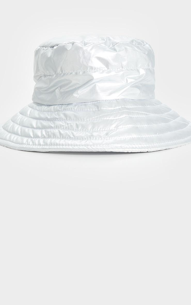 Silver Padded Bucket Hat 2
