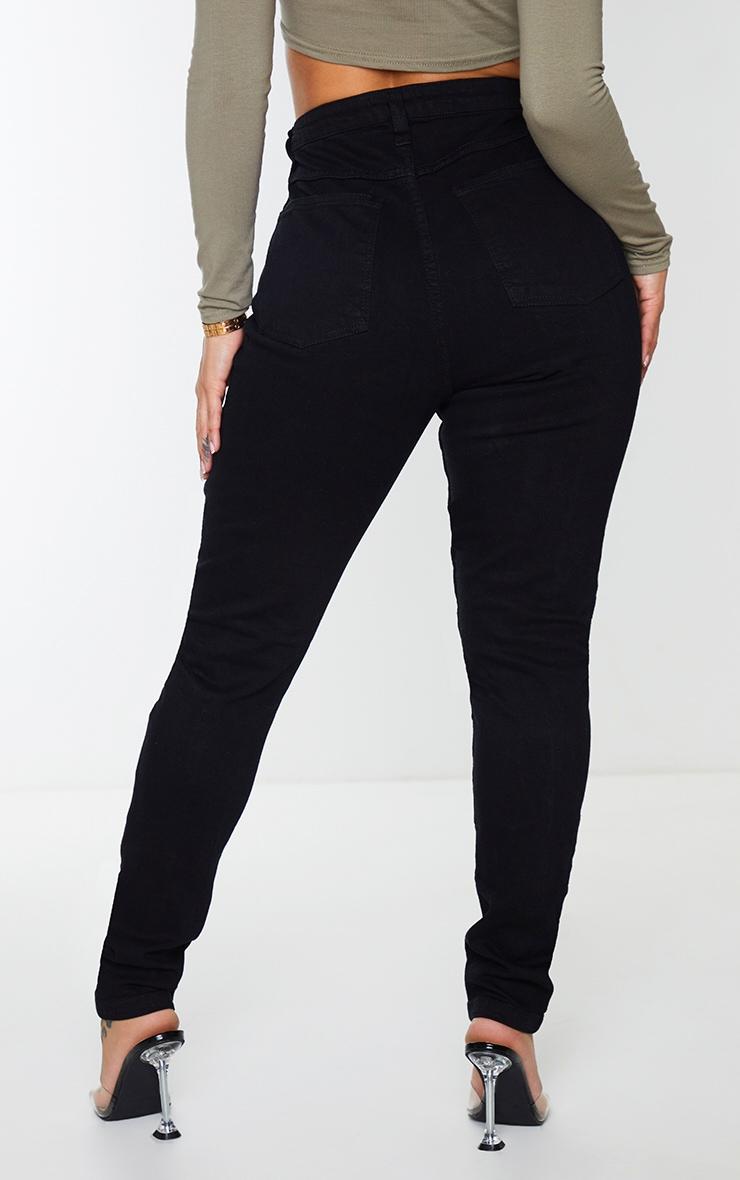 Shape Black Seam Detail Pocket Skinny Jeans 3