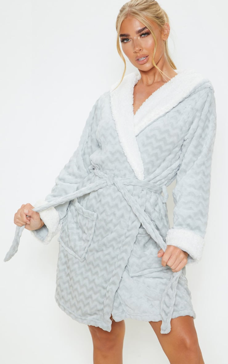 Grey Novelty Ears Dressing Gown 4