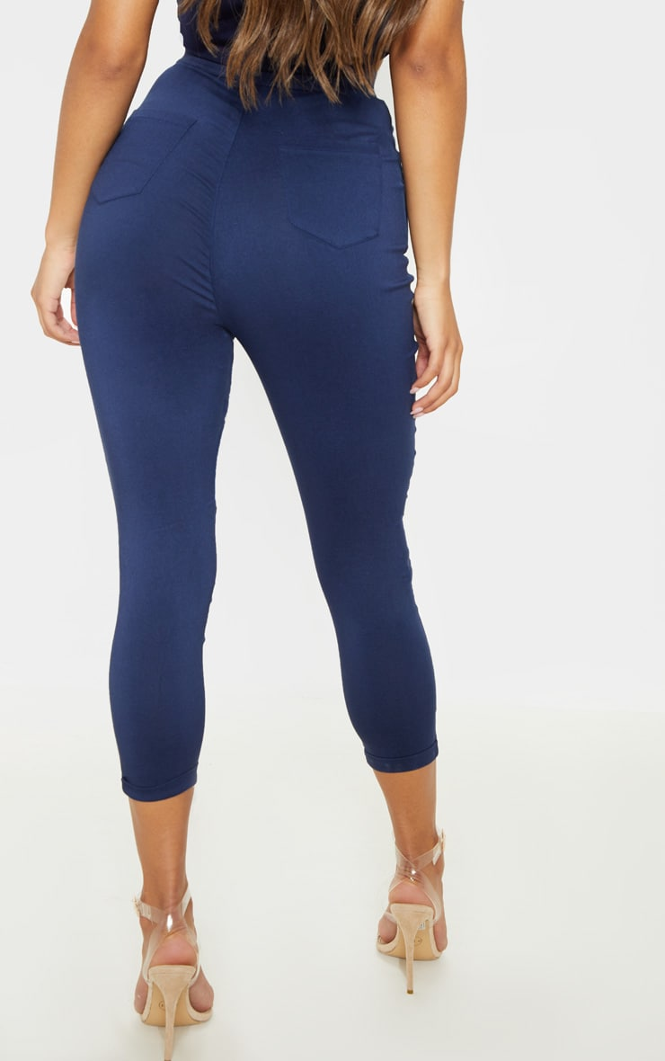 Navy Simi High Waisted Jeggings 4