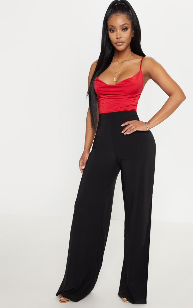 Shape Red Slinky Cowl Neck Bodysuit 5