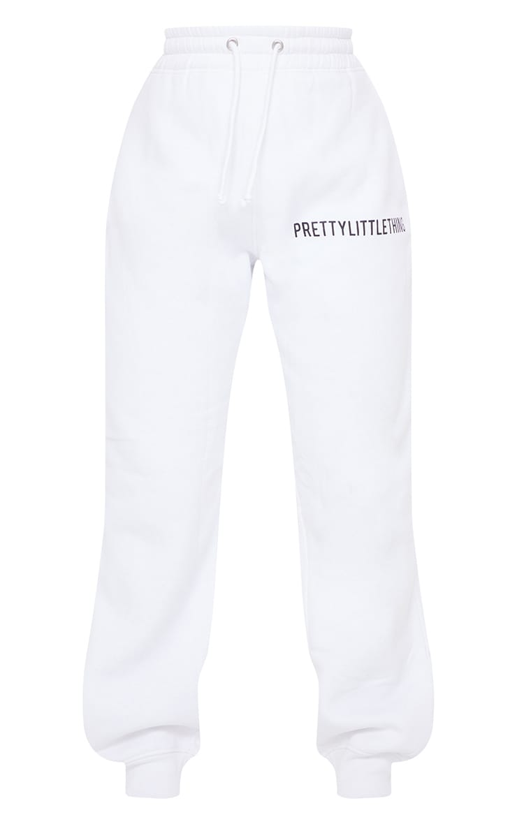 PRETTYLITTLETHING White High Waisted Joggers 5