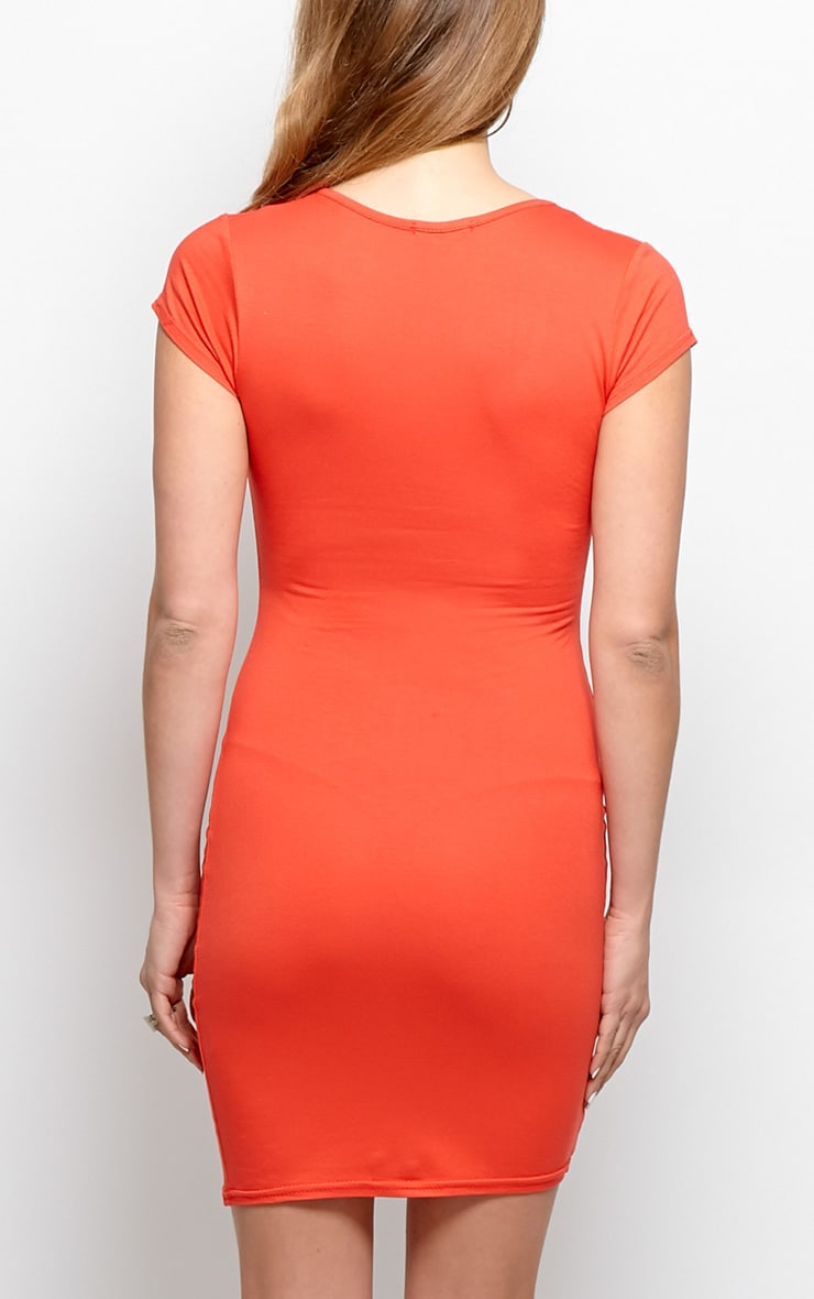 Finola Red Jersey V Neck Dress 2